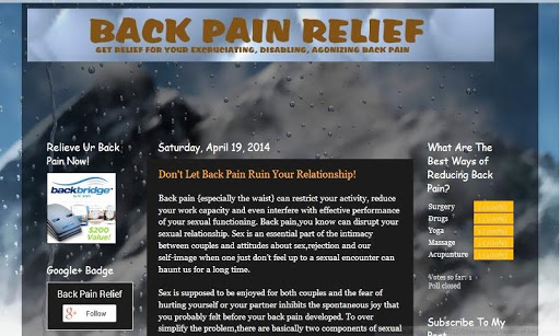 Lower Back Pain Relief Facts