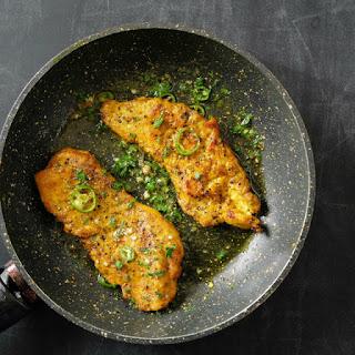 Green Chili Turmeric Chicken.