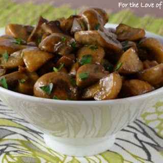 Mushroom Sauté with Soy, Butter, and Garlic.