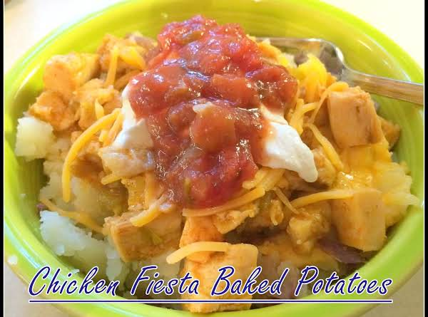 Chicken Fiesta Baked Potatoes Recipe