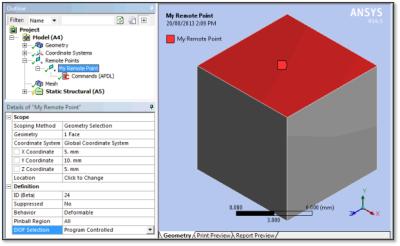 ANSYS - ANSYS - Измерение перемещений (Deformation Probe) для геометрического элемента, системы координат либо связанной точки