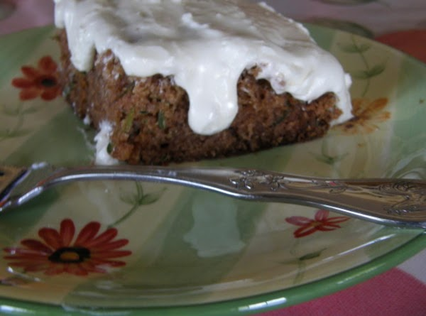 Spiced Zucchini Cake With Cream Cheese Frosting Recipe