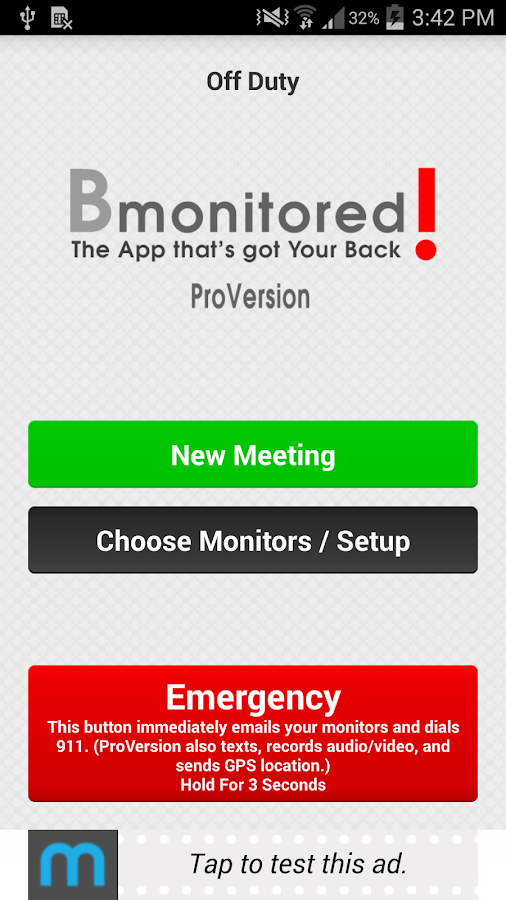 Bmonitored Personal Safety App- screenshot