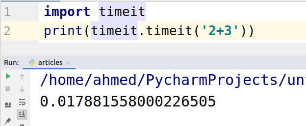 Python Timeit() with Examples