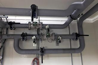Photo: Local pompe - Bypass pour changement sonde temperature #datacenter #reims (Visite de chantier 13.11.2014)