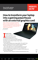 Screenshot of PCWorld Digital Magazine (US)