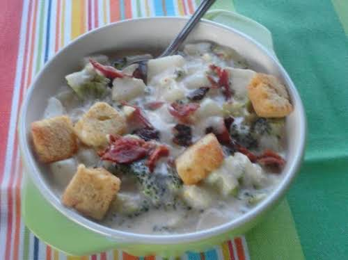"Heavenly Broccoli/Potato Soup ""This soup tastes absolutely heavenly; hence the name! I..."