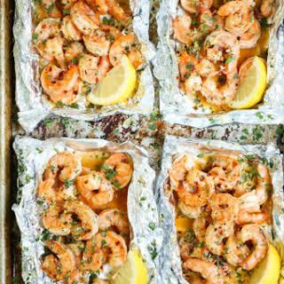 Shrimp Scampi Foil Packets.