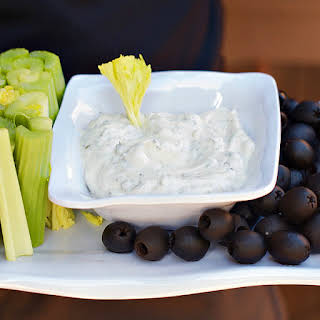 Holiday Cilantro Chive Greek Yogurt Dip.