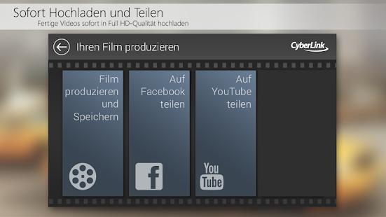 PowerDirector Videobearbeitung Screenshot