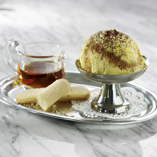 Vanilla Ice Cream with Ladyfingers and Coffee Syrup