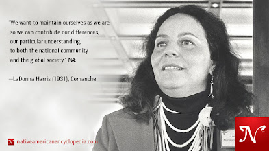 Photo: We want to maintain ourselves as we are so we can contribute our differences, our particular understanding, to both the national community and the global society. —LaDonna Harris (1931), Comanche