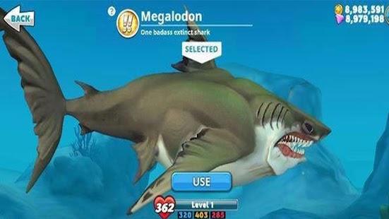 Cheat Hungry Shark World - náhled