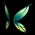 緑の空飛ぶ羽B