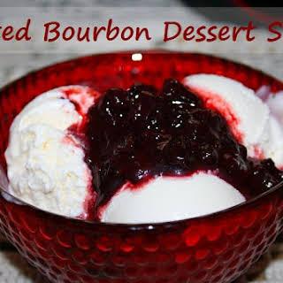 Blackberry Bourbon Dessert Sauce.