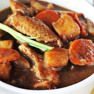 Dark Soy Sauce Chicken With Potato Cubes Stew