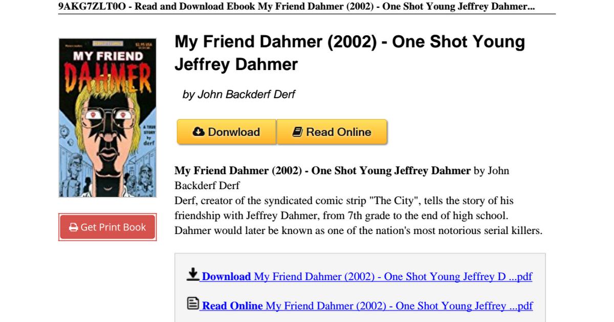 my friend dahmer download pdf