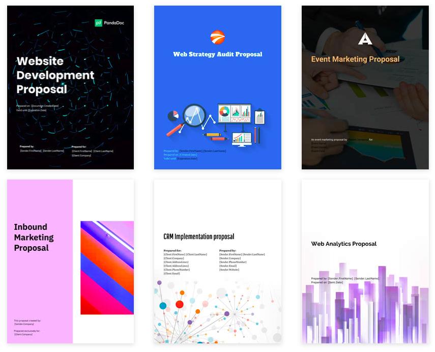 pandadoc's marketing proposal templates