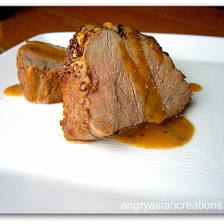 Roasted Pork Loin Rubbed with Guinness Mustard Recipe