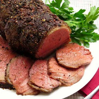 Roast Beef with Peppercorns
