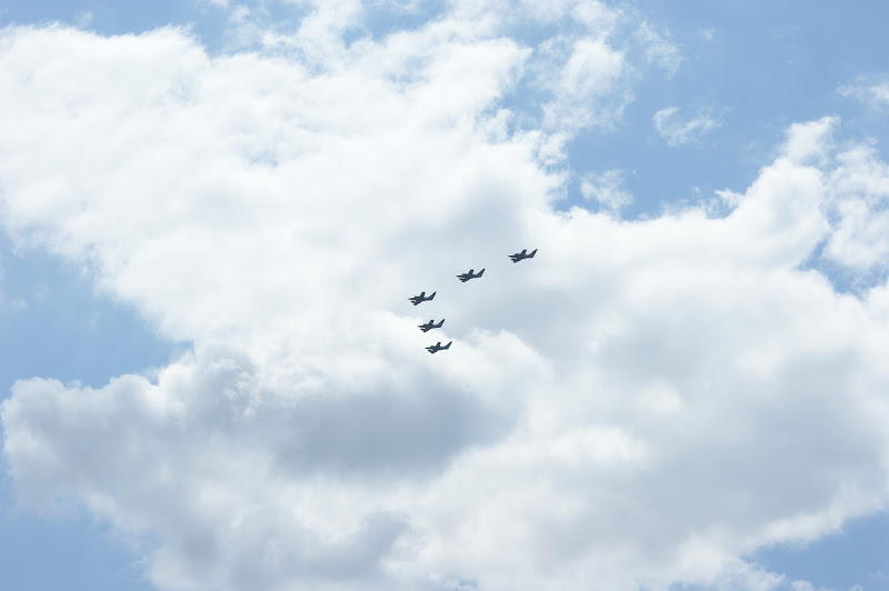 Photo: Military planes flying over Paris in prep of the Bastille Day celebration