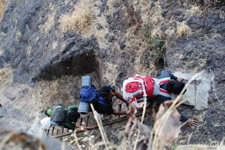 Photo: Iron Ladder on Rock Patch ..below Budhala Machi