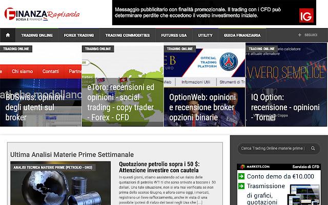 Finanzarapisarda Trading Online materie prime