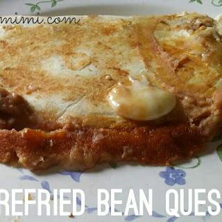 Easy Refried Bean Quesadillas.