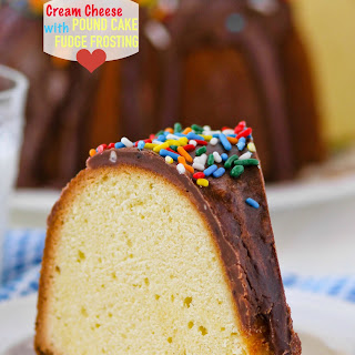 Cream Cheese Pound Cake with Fudge Frosting
