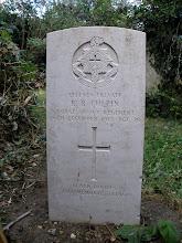 Photo: Hidden WWW I gravestone of R B Culpin