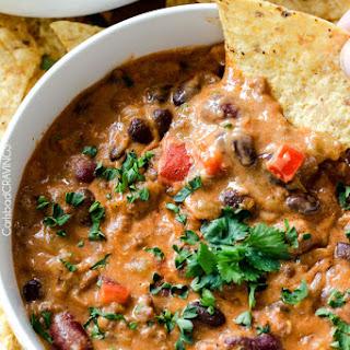 Homemade Cheesy Chili Dip.