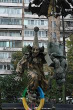 Photo: Creepy clowns - Moscow, Russia