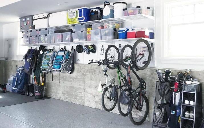 vertical garage storage saves space