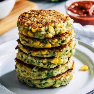 Healthy Vegan Zucchini Fritters.
