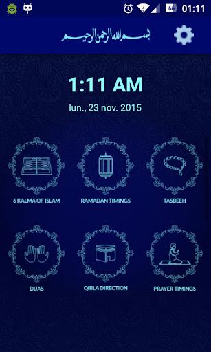 Prayer Times:Quran Azan Qibla