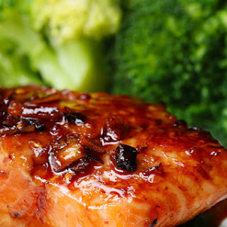 Honey Soy-Glazed Salmon.