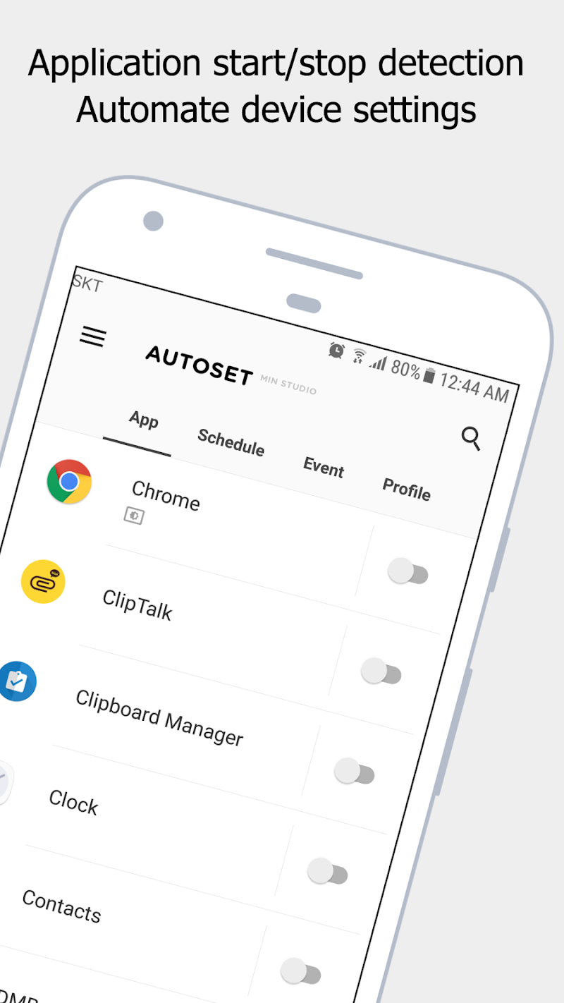 Autoset - Android Automation Device Settings Screenshot