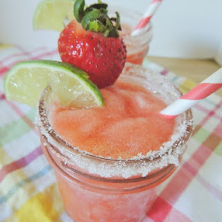 Frozen Strawberry Key Lime Margaritas.
