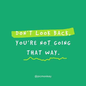 Don't Look Back - Instagram Post template