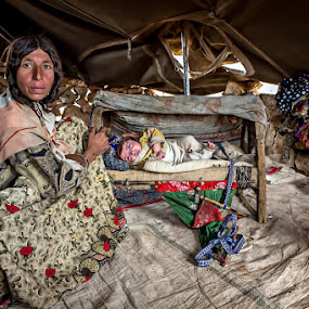 In the tent by Mohammadreza Momeni - Captioned Photos Mother's Day ( child, mother, documentary, mother's day )