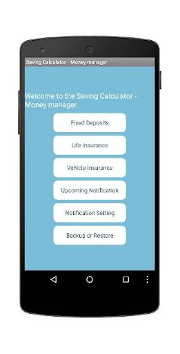 Saving Calculator - Manager