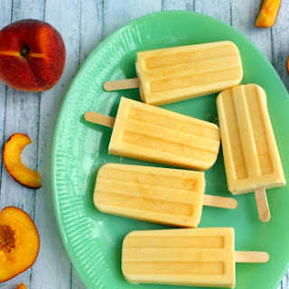 Easy Peach FroYo Pops