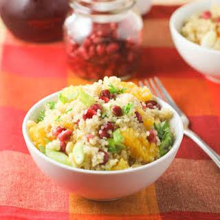 Orange-Quinoa Salad with Pomegranate Seeds.