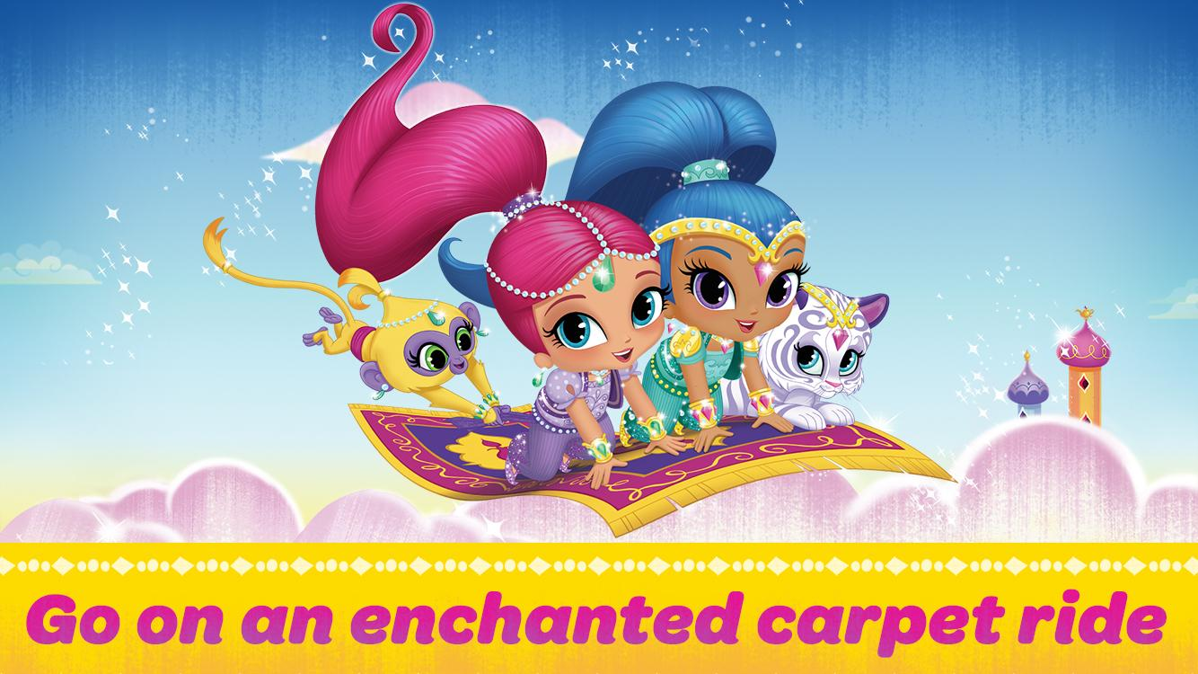 Mobile shimmer and shine coloring games coloring pages ausmalbilder - Shimmer And Shine Carpet Ride Screenshot