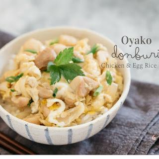 Oyako Donburi (Chicken & Egg Rice bowl).