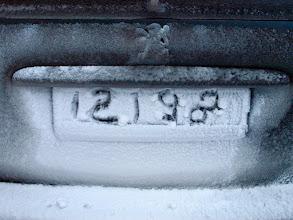 Photo: antyfotoradarowa rejestracja w naszym pojezdzie ;)
