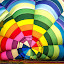 air balloons festival by Luigi Alloni - Abstract Patterns ( balloon colors lines geometries festival ferrara inside luigialloni )