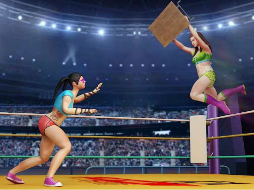Women Wrestling Rumble: Backyard Fighting apkpoly screenshots 12