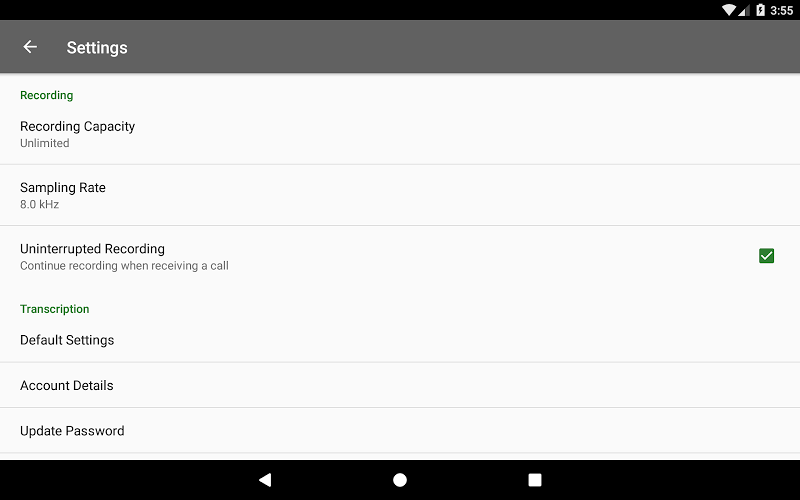 Dictadroid Voice Recorder Screenshot 15