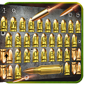 Gold Gunnery Bullet Battle Shots Stylish Reading Android APK Download Free By Love Cute Keyboard